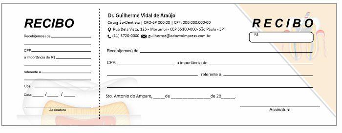 RECIBO COM CANHOTO - REF. 2752