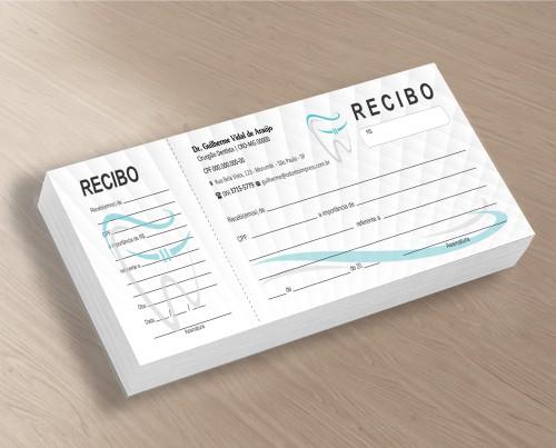 Recibo com Canhoto - Ref. 2766  - Odonto Impress