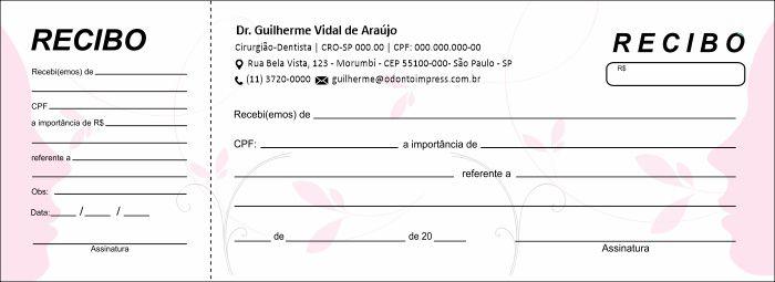 RECIBO COM CANHOTO - REF. 2777