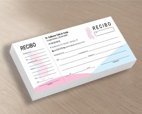 RECIBO COM CANHOTO - REF. 2779  - Odonto Impress