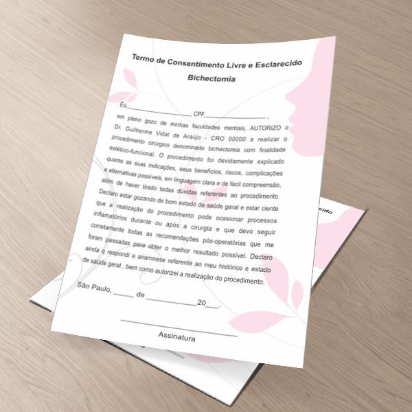 Termo de Consentimento de Bichectomia - HOF - 0177