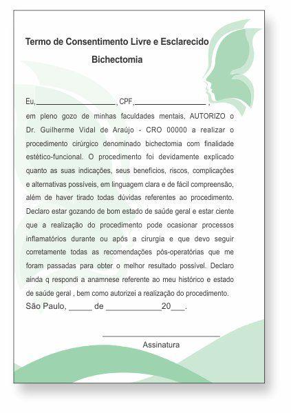 TERMO DE CONSENTIMENTO DE BICHECTOMIA - HOF - 0178