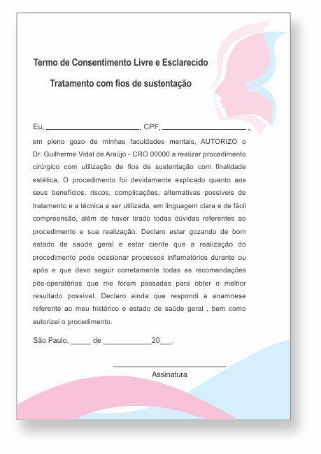 TERMO DE CONSENTIMENTO DE FIOS DE SUSTENTAÇÃO - HOF - 0079