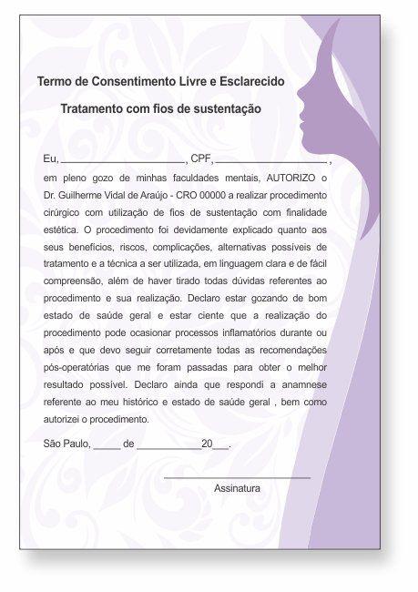 TERMO DE CONSENTIMENTO DE FIOS DE SUSTENTAÇÃO - HOF - 0081