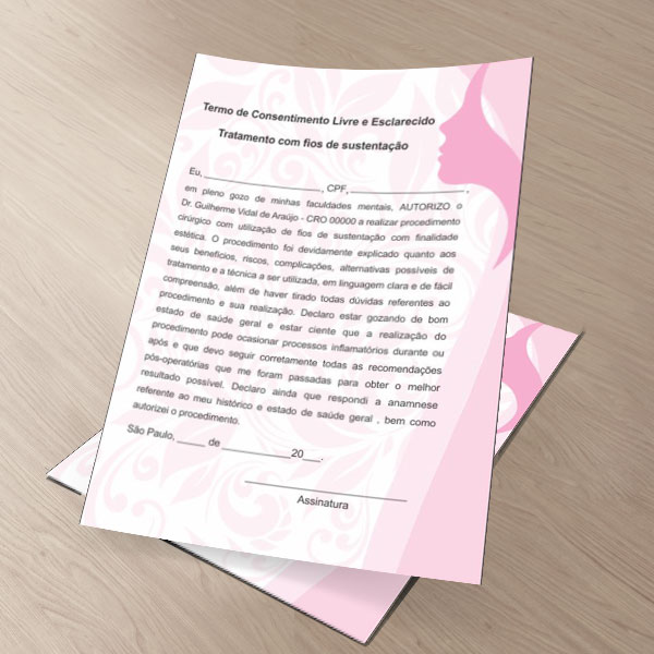 TERMO DE CONSENTIMENTO DE FIOS DE SUSTENTAÇÃO - HOF - 0082