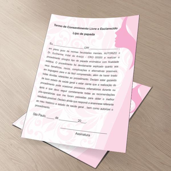 TERMO DE CONSENTIMENTO DE LIPO DE PAPADA - HOF - 0282