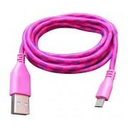 Cabo de Dados e Carregador Estilo Corda Micro Usb 2 Metros Pink - Matecki