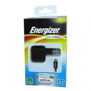 Carregador de Tomada Portátil com Saída USB 2.1A e Cabo Micro USB Energizer - Preto