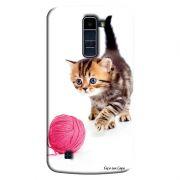 Capa Personalizada Exclusiva LG K10 TV K430DSF Pets Gatinho - PE37