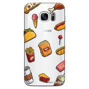 Capa Transparente Personalizada Exclusiva Samsung Galaxy S7 Comida - TP105