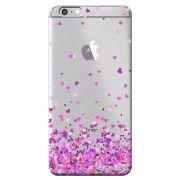 Capa Transparente Personalizada Exclusiva Apple Iphone 6/6s Corações - TP167
