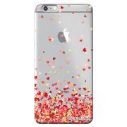 Capa Transparente Personalizada Exclusiva Apple Iphone 6/6s Corações - TP168