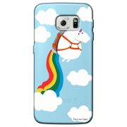 Capa Transparente Personalizada Exclusiva Samsung Galaxy S6 Unicornio - TP184