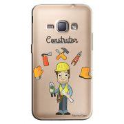 Capa Transparente Personalizada Exclusiva Samsung Galaxy J1 2016 Construtor - TP212