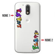 Capa Personalizada com Nome para Motorola Moto G4 G4 Plus - NM05