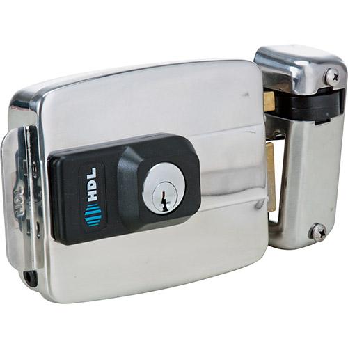 Fechadura Elétrica HDL C-90 Dupla Inox  abre para dentro Código:  90.01.03.028 - JS Soluções em Segurança