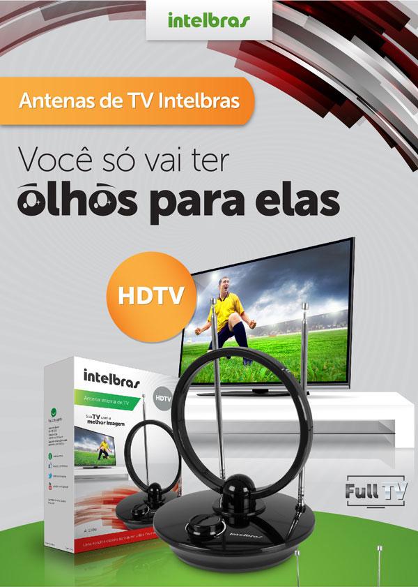 Antena interna de TV AI 1000 - JS Soluções em Segurança