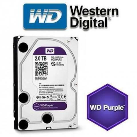 HD interno WD Purple 2 TB Surveillance 24hs para CFTV WD20PURZ - JS Soluções em Segurança