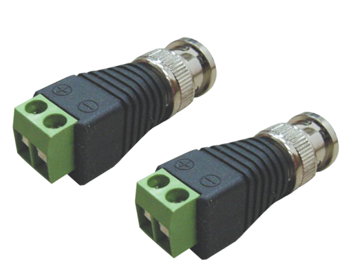 CONECTOR BNC COM BORNE - JS Soluções em Segurança
