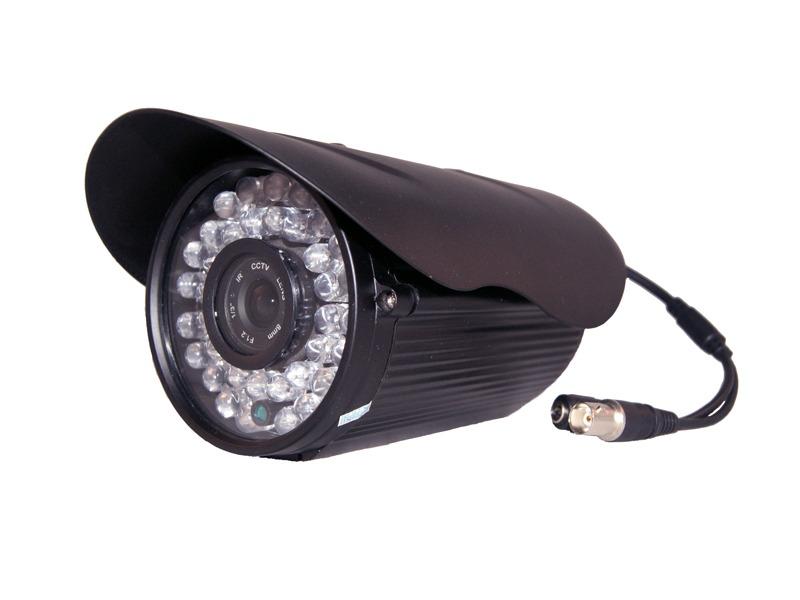 CÂMERA SUPER INFRA VERMELHO 1/3 CCD SONY 960 linhas 8MM 36 LEDS BIG 70MTS - cor (Preta) - JS Soluções em Segurança