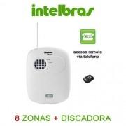 Central de alarme intelbras 8 zonas discadora para 5 números + 1 controle 433,92 MHz ANM 3008 ST - JS Soluções em Segurança