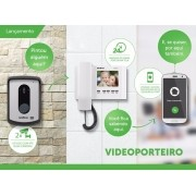KIT Video Porteiro com Monofone display 4