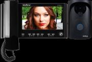 KIT Video Porteiro Intelbras + interfone de ouvido - IV 7010 HS preto - JS Soluções em Segurança
