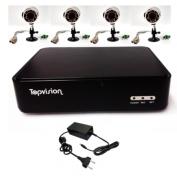 Kit de Segurança DVR AHD-L 720P + 3 Cameras Infra Red AHD-L 720P 36 leds sem HD