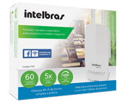 Roteador wireless corporativo para pequenos e médios negócios 300Mbps Intelbras HotSpot 300