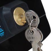 Fechadura Elétrica HDL C-90 Dupla Preta  Código:  90.01.03.041 ABRE PARA DENTRO - JS Soluções em Segurança
