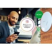 Access Point Wi-Fi para negócios 300 Mbps 2.4Ghz - BSPRO 360 intelbras - JS Soluções em Segurança