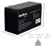 Bateria de chumbo-ácido 12V para sistemas de segurança XB12AL INTELBRAS - JS Soluções em Segurança