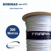 Bobina Coaxial Premium Híbrido HD 4mm + alimentação Bipolar 80% condutor rígido + 2x26 AWG Dupla Blindagem 300mts - JS Soluções em Segurança