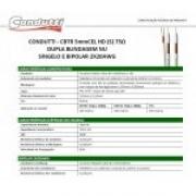 Cabo Coaxial Premium Híbrido HD 5mm Dupla Blindagem bipolar 2X20 AWG 100mts - JS Soluções em Segurança