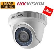 Câmera dome infra HD-TVI Turbo 1/2.7 2.8mm grande angular Hikvision Full HD 1080p