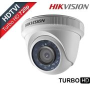 Câmera dome infra vermelho Turbo HD TVI 1.0 Megapixel 1/3 2.8mm 12 leds 20mts Hikvision 720p
