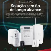 Central de alarme sem fio Ethernet e WiFi controlada APP Smartphone contra roubo 64 zonas + bateria