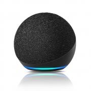 Echo Dot (4ª geração) Smart Speaker Amazon com Alexa Preta - JS Soluções em Segurança