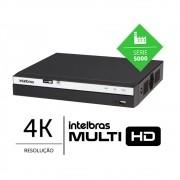 Gravador digital de vídeo 08 Canais BNC 4K Ultra HD + 4 canais IP H.265+ intelbras MHDX 5208 4K - JS Soluções em Segurança