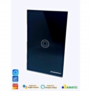Interruptor inteligente 1 Botão touch screen Wi-Fi black RF 433.92 Mhz WS-US1-B Novadigital - JS Soluções em Segurança