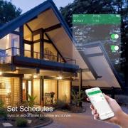 Interruptor inteligente 4 Botões touch screen Wi-Fi preto RF 433.92 Mhz WS-US4-B Novadigital - JS Soluções em Segurança