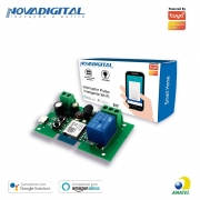 Interruptor Pulso Inteligente Wi-Fi 7-32V DC 433MHz 2200W 10A - JS Soluções em Segurança