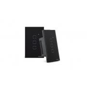 Interruptor touch smart Wi-Fi 3 Botões 4x2 Intelbras EWS 1003 preto - JS Soluções em Segurança