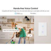 Interruptor inteligente Wi-Fi TX0 2 Botões touch automação smart branco TX-T0US2C Sonoff - JS Soluções em Segurança