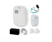 Kit de Alarme 1 Central + 1 Sensor Presença Sem FIO + 2 Sensor de Abertura sem FIO + 1 Controle + 1