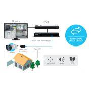 Kit Power balun 19/1U receptor e transmissor 8 canais RJ45 Vídeo e Alimentação até 300mts intelbras VB 3008 WP 2160p 4k - JS Soluções em Segurança