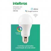 Lâmpada inteligente LED Smart Wi-Fi Bivolt 16 milhões de cores e dimerização intelbras EWS 410 Alexa e Google 10W - JS Soluções em Segurança