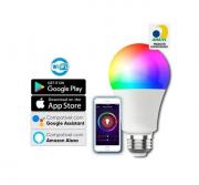 Lâmpada inteligente LED Smart Wi-Fi 10w Bivolt 16 milhões de cores e dimerização intelbras EWS 410 Alexa e Google - JS Soluções em Segurança