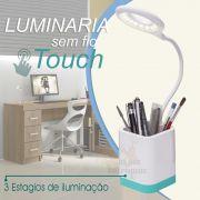 Luminária de mesa Led com porta canetas Touch Pilha - JS Soluções em Segurança