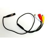 Mini câmera AHD-M infra vermelho pin-Hole 1.3 megapixels com audio 960p - JS Soluções em Segurança
